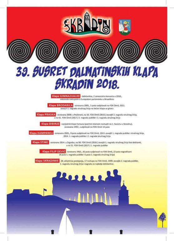 39. Susret dalmatinskih klapa Skradin 2018